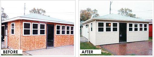 refacing better built garages. Black Bedroom Furniture Sets. Home Design Ideas
